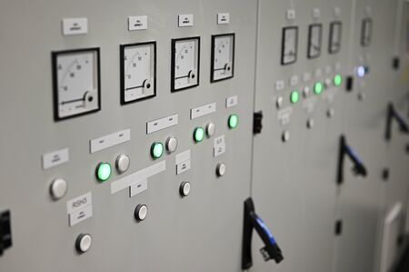 Ammeters and signaling with control in substation.