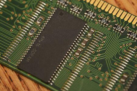 RAM memory in detail. 版權商用圖片