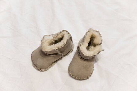 Baby infant winter boots.