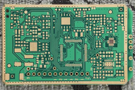 Motherboard paths for electronic components.
