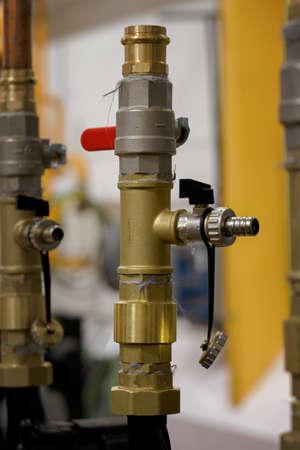 Drain valve on brass fitting.