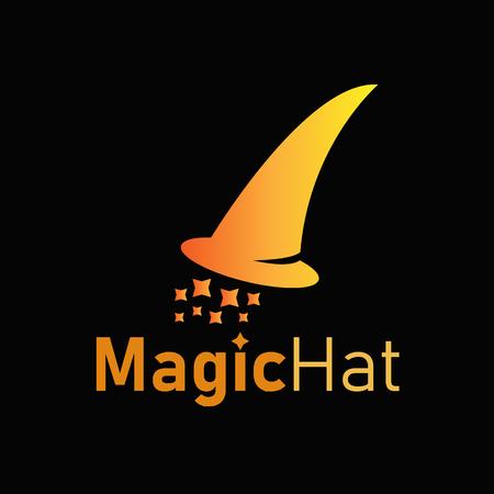 Vector Magic Hat Logo Design Template. Illustration