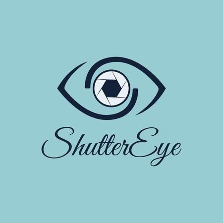 Vector Shutter Eye avec combinaison Eye et Shutter pour le modèle de conception. Icône pour la photographie, photo espion, photo franche, icône d'application mobile, photo de studio, photo d'art, galerie de photographie.
