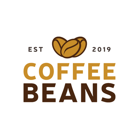 Coffee Natural logo vintage. Coffee shop template. Restaurant label. Cafe house label. Graphic design element for business cafe, bar, pub. Vector Illustration isolated on background. Label product.