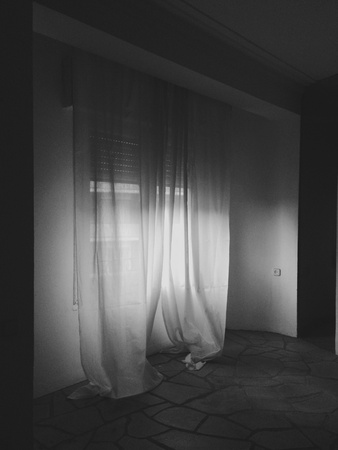dark: Window in the dark Stock Photo