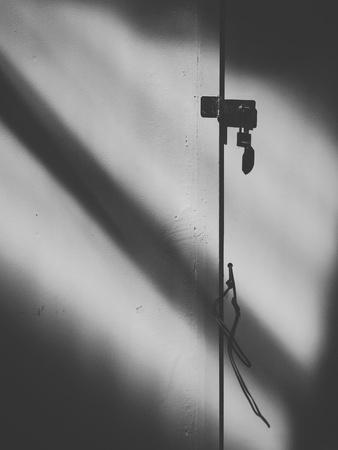 shadow: Shadow on a wall Stock Photo