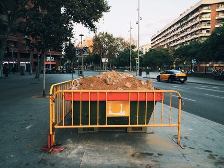construction: Under construction. Barcelona