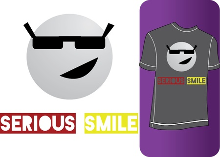 spectacled: Blank for printing image on T-shirts Illustration