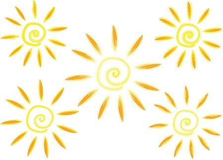 daub: Vector grunge sun