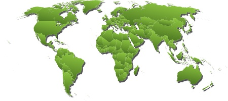 World map on white background Original Vector Illustration Stock Vector - 21800458