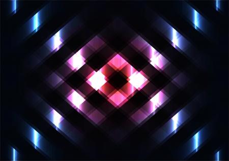 lichteffekte: Vektor-Abstraktion mit Lichteffekten in der