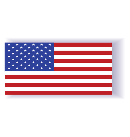 Flag of the USA vector illustration. created EPS 10