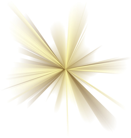 Abstract vector golden rays on white background