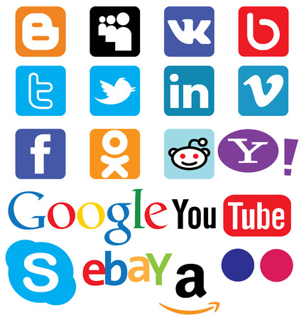 Button social networks and online stores