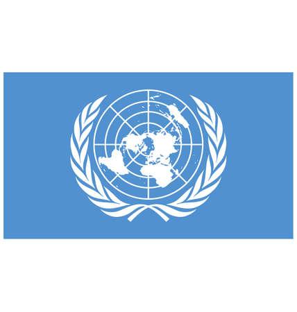 флагшток: Флага векторные иллюстрации Объединенных Наций создан EPS 10