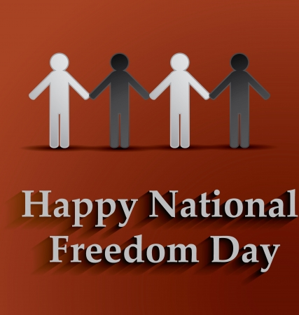 Happy National Freedom Day Vector