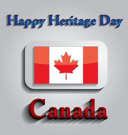miras: İllüstrasyon Kanada'da Mirası Günü adanmış