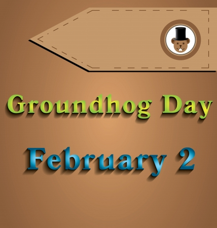 Illustration of Groundhog Day two dedicated in February Illustration