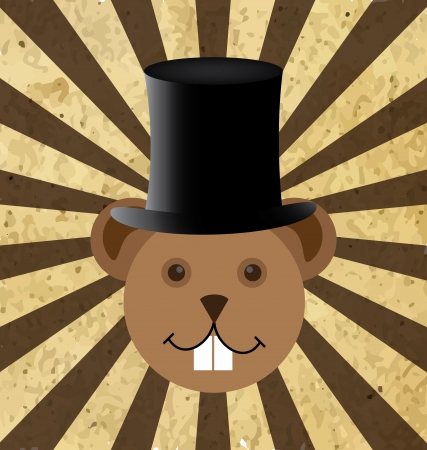 Illustration of Groundhog Day two dedicated in February Vector