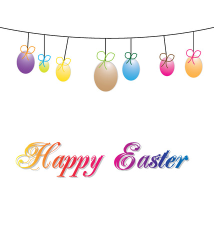 Decorate with Easter egg with space for text Illustration