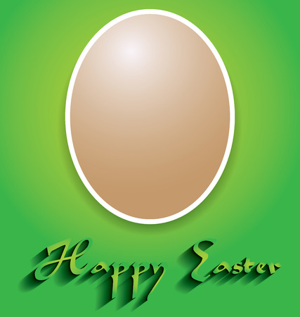 Decorate with Easter egg with space for text Vector