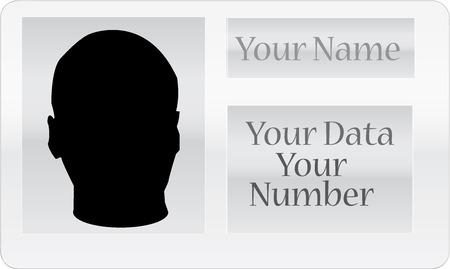 carta identit�: Illustrazione della carta d'identit� in bianco su sfondo astratto