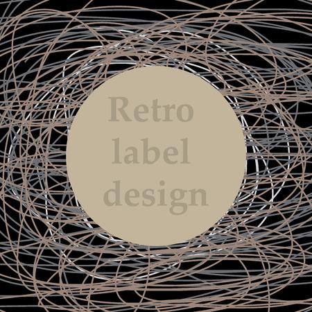 seal gun: Vector illustration of vintage retro label dashed lines