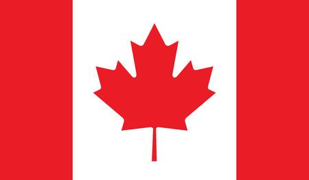 Canada flag vector illustration. created EPS 10 Vector