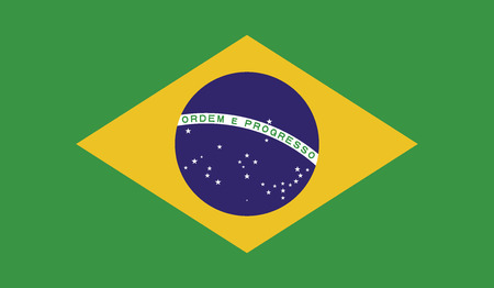 Brazil flag vector illustration. created EPS 10 Illustration