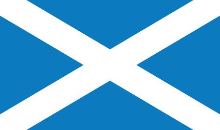 Scotland flag vector illustration. created EPS 10