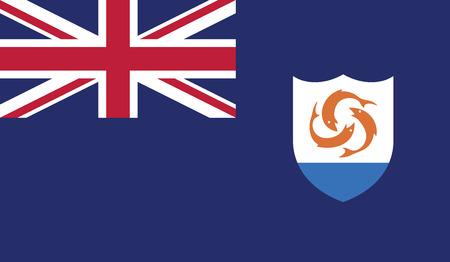 anguilla: Anguilla flag vector illustration.