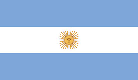 Argentina flag vector illustration