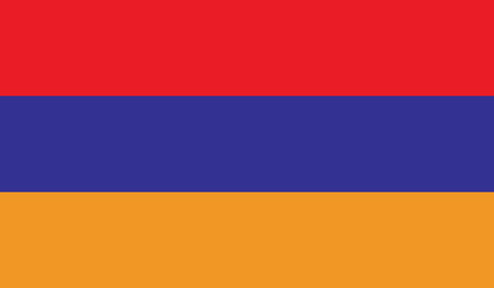 Armenia flag vector illustration.  Vector