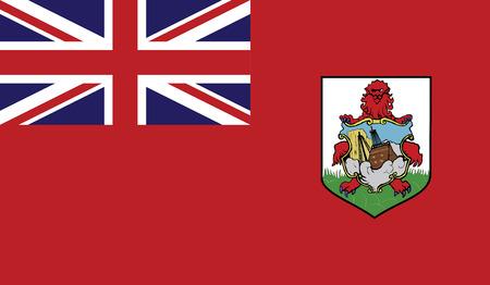 hamilton: Bermuda flag vector illustration.