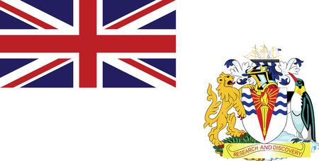 antarctic: British Antarctic Territory flag vector illustration.