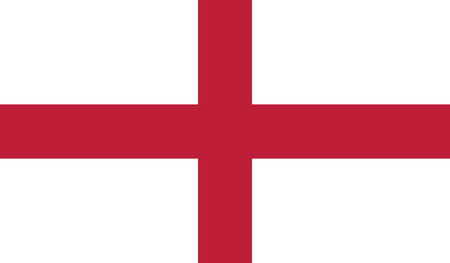 England Republic flag vector illustration.  Vector