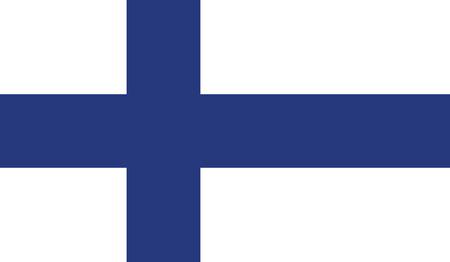 bandera de finlandia: Finlandia bandera de ilustraci�n vectorial.