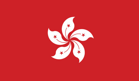 Hong Kong flag vector illustration  Vector