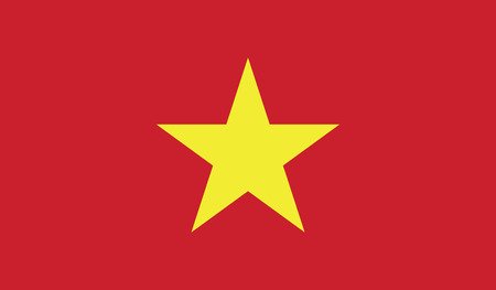 Vietnam flag vector illustration.   Vector