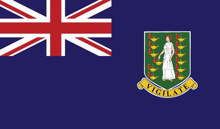 Virgin Islands UK flag vector illustration.
