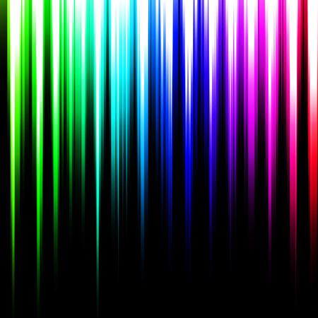 상단에서 나오는 다채로운 추상적 인 선