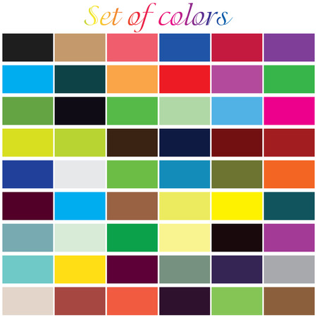 Illustrative backgrounds set of sixtyfour colored rectangles Vector