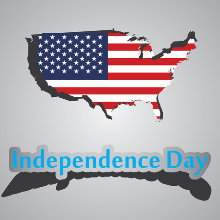 vector illustration of dedicated to the Independence Day of the United States on July 4