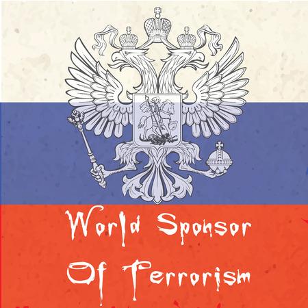 explosive watch: vector illustration of Russian world sponsor of terrorism