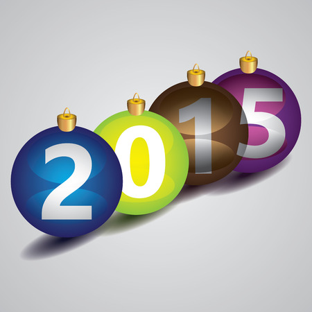 Creative Happy New Year vector illustration for 2015