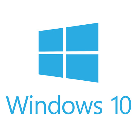 microsoft: Logo of the new OS Windows 10 by company Microsoft