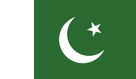 Pakistan flag vector illustration. created EPS 10 Ilustração