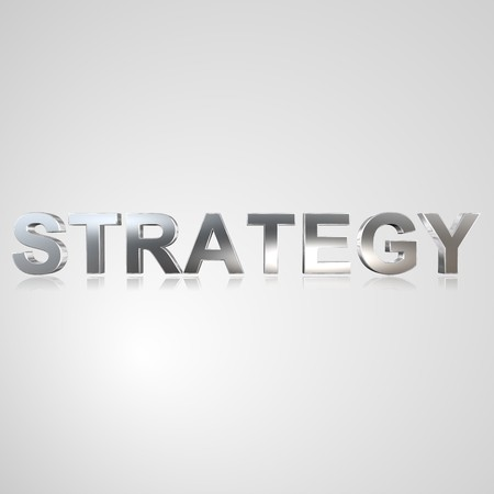3d text for business and website design. With central word strategy Stockfoto