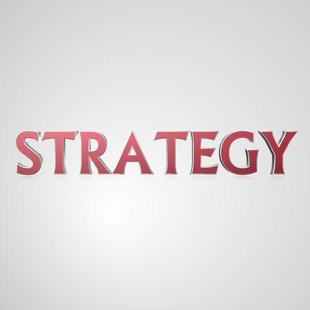 3d tekst voor bedrijf en website design. Met centrale woord strategie