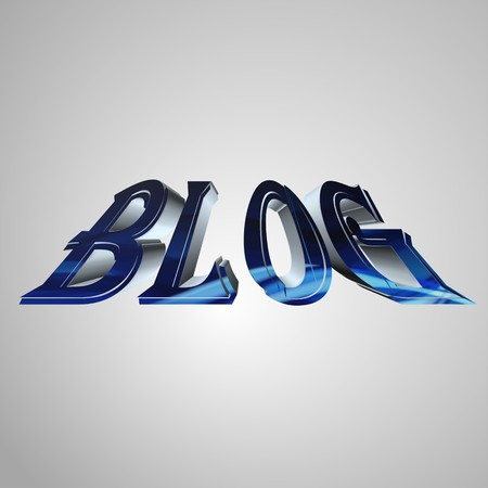 prerequisite: 3d text for business and website design. With central word BLOG